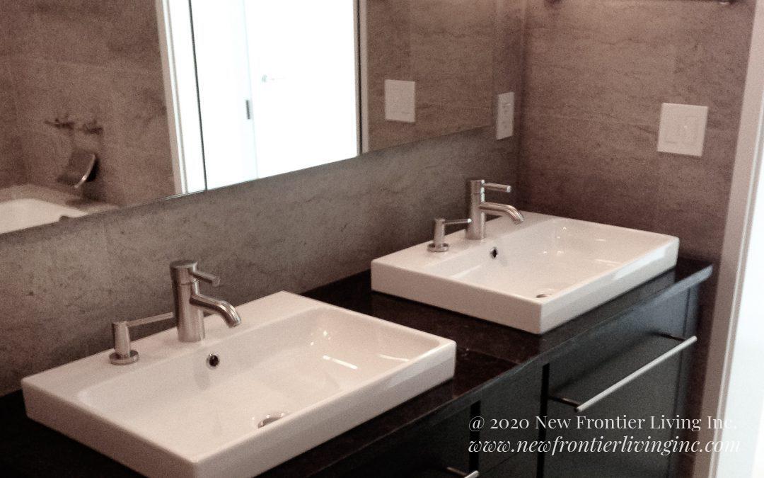 Bathroom: 2013-Custom-Black & Cream