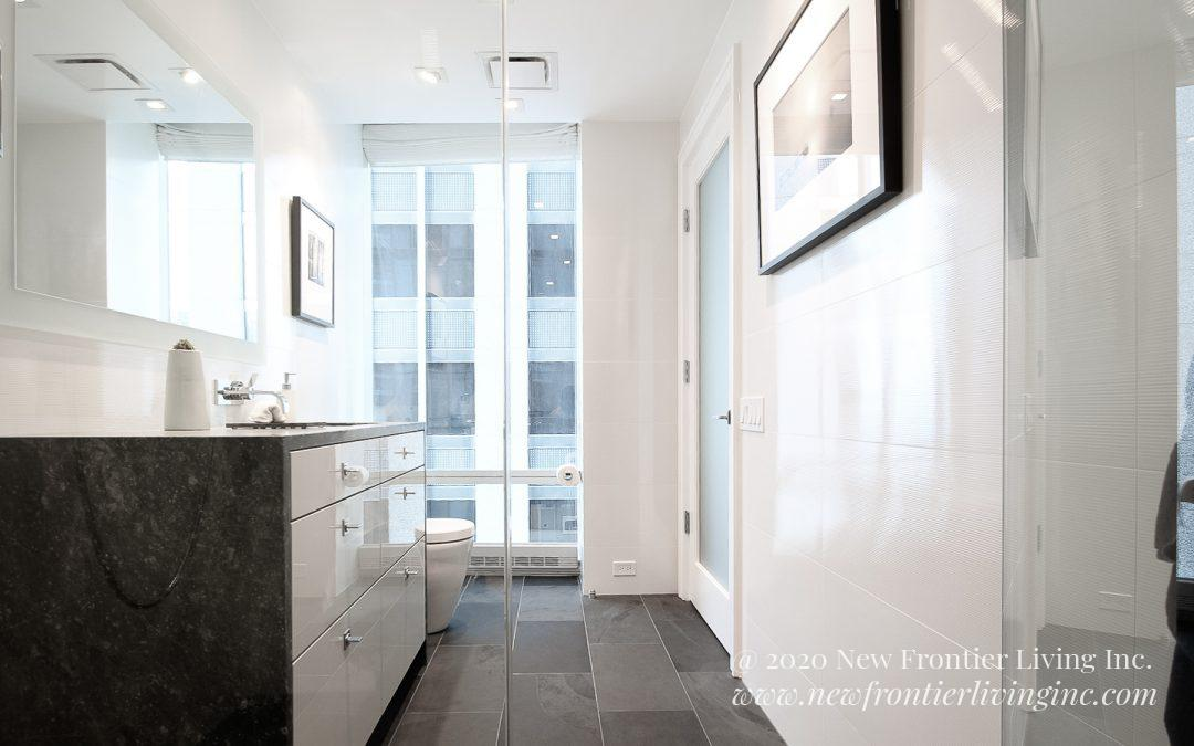 Bathroom: 2015-Custom-On the Park-White&Gray
