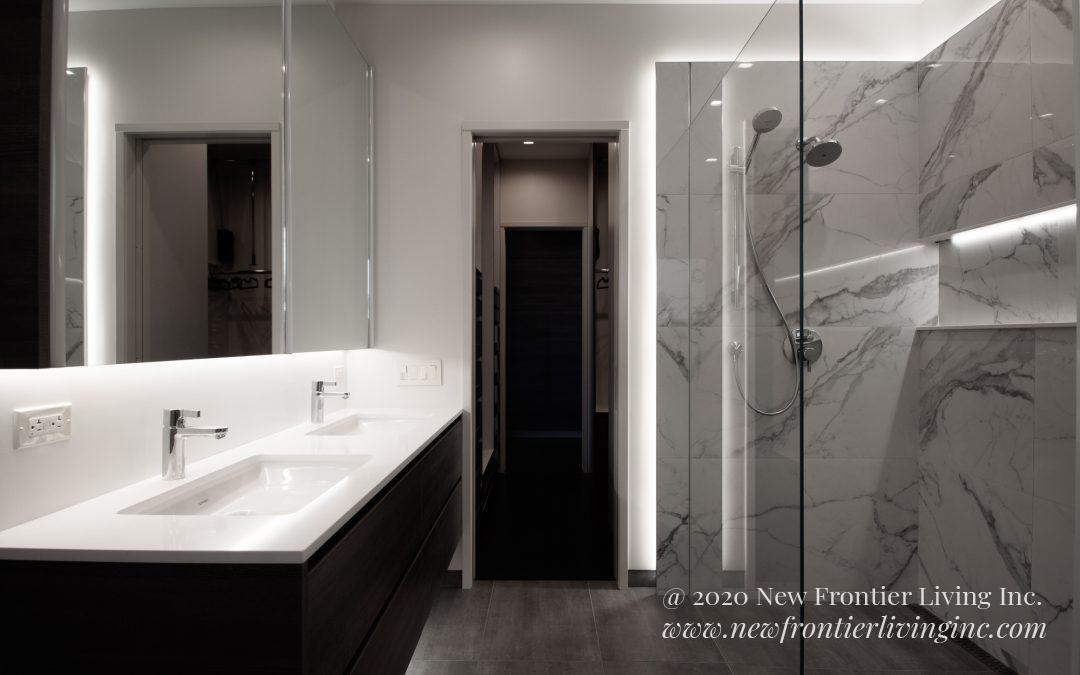 Bathroom: 2019-Custom-Marble&White&Gray