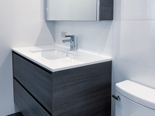 Bathroom: 2019-Custom-Gray&White