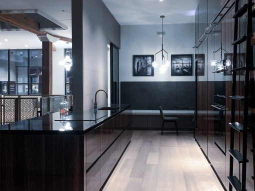 Kitchen: 2019-Snaidero-Showroom-Black & Brown