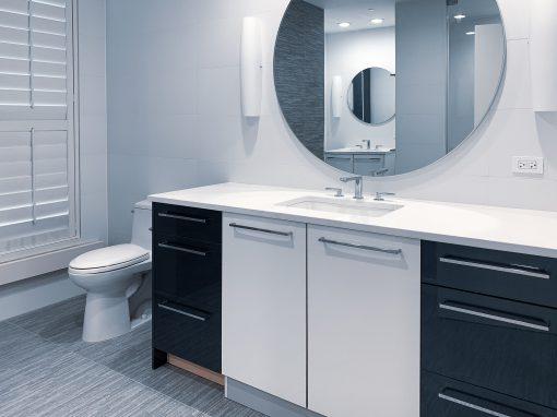 Bathroom: 2020-Custom-Blue & White