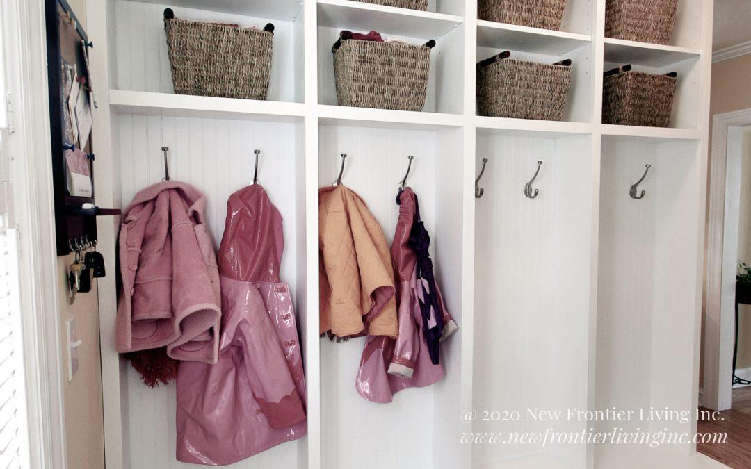 Custom Cabinetry: Mudroom, Sauna, Wine Storage